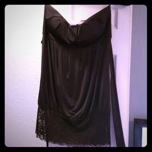 Strapless shirt/ mini dress